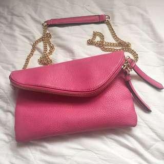 美國品牌 維多利亞的秘密💟粉色肩背包包