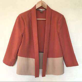 Chic Colour-block Blazer