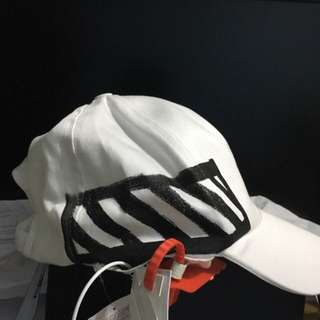OFF-WHITE BRUSHED STRIPES CAP