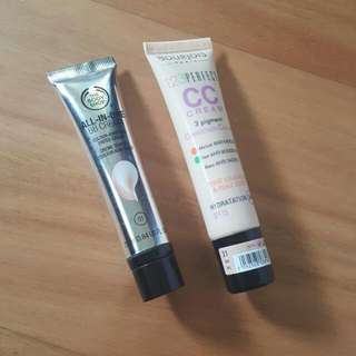 The Body Shop Bb Cream In Shade 1  Bourjois Cc Cream Shade Ivory 31 Both too light for my skin $8 Each