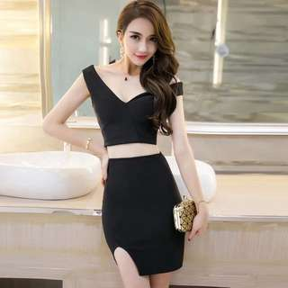 Black Dress -2piece