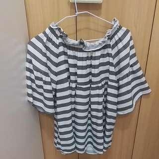 全新降價#韓版#平口兩穿氣質上衣