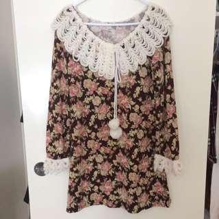 Mori Style Lace Floral Dress