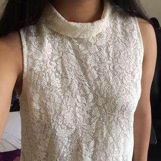 Topshop Lace Top