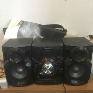 Panasonic SW-AKX18 Bluetooth Speakers.