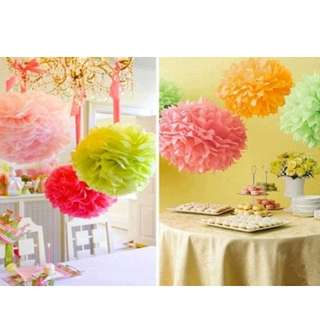 birthday Decor - Garland - pom pom