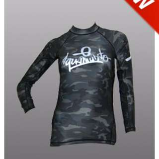 Aquamundo Rash Guards Camouflage Design (Black or Grey)