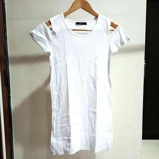 Mphosis White Cut Out Dress