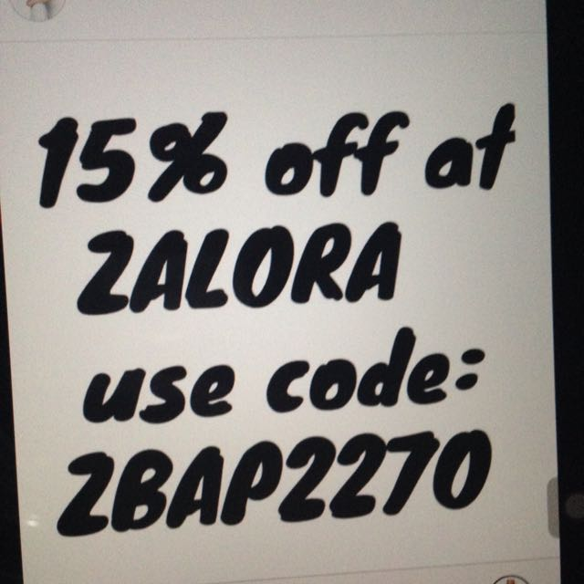 15% OFF http://zalora.com.ph use code: ZBAP227O