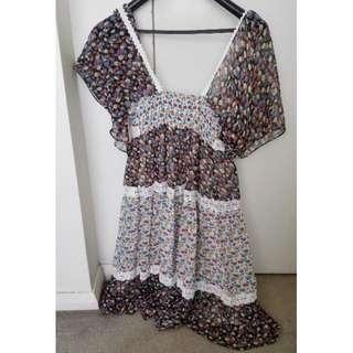 Boho dress- size 8-10