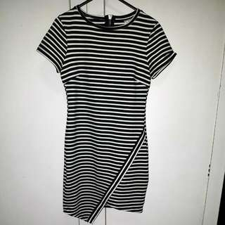 Stripe t-shirt mini dress sz 8