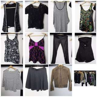 Ladies Mixed Summer/Festival Clothing x15- Mink Pink,ASOS,LadyDanger- 8-10