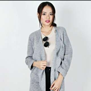 Grey Drape Coat