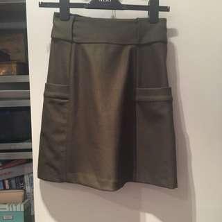 Khaki Witchery Mini Skirt