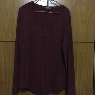 Cotton On Burgundy Top (knitted pattern)