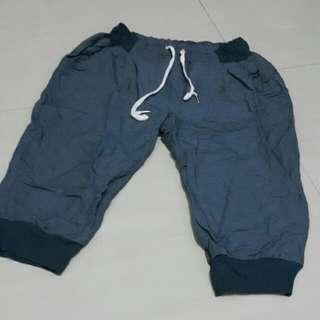 棉麻六分休閒褲
