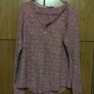 Cotton On Peach Patterned Top (knit textured)