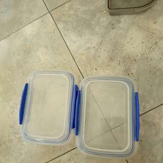 Two Small Tupperware  Containers