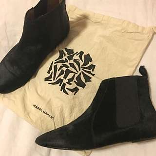 Isabel Marant Pony Hair Ankle Boots Size 37