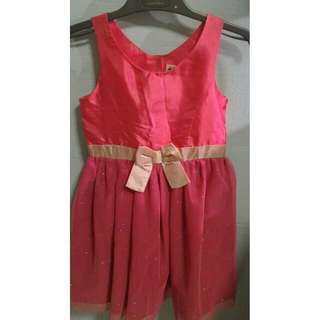 H&M Bright Pink Lined Party Dress