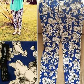 Zara Basic Floral Pants