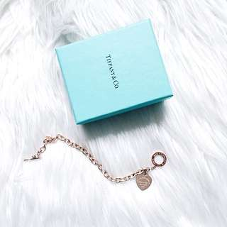 Rose Gold Tiffany and Co Heart Tag Chain Replica