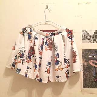 Disney唐老鴨超可愛短裙(套裝下半身)