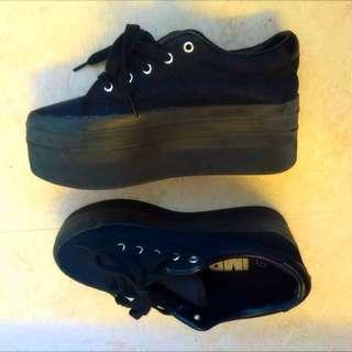 厚底鞋 黑色 休閒