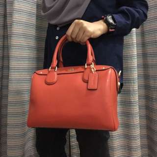 Authentic Coach Mini Bennett In Crossgrain Leather