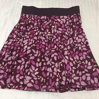 Uniqlo Purple Printed skirt