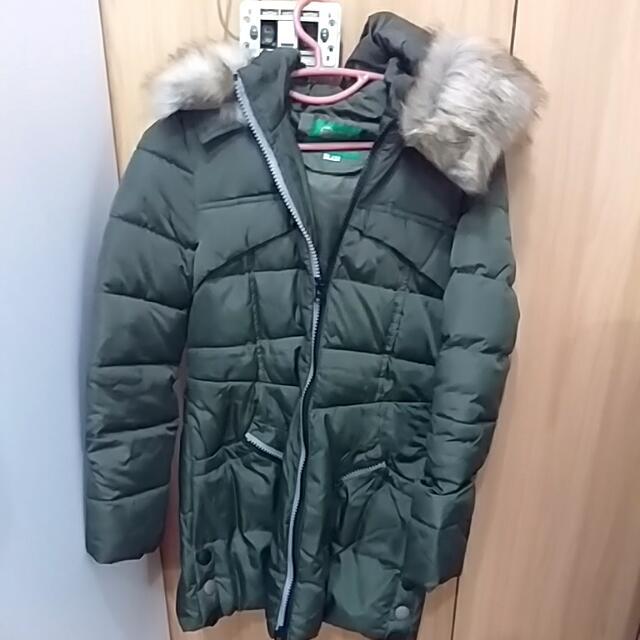#降價#墨綠羽絨長版外套