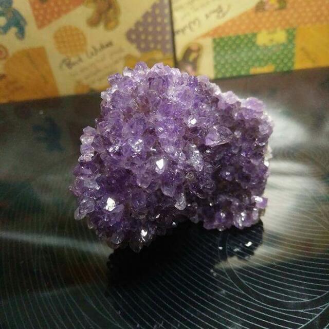 (保留)可愛小紫水晶簇~« 水晶、礦石、瑪瑙、半寶石 »