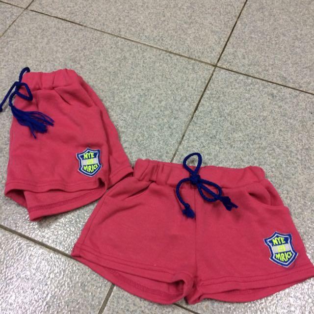 兒童休閒短褲 粉紅色