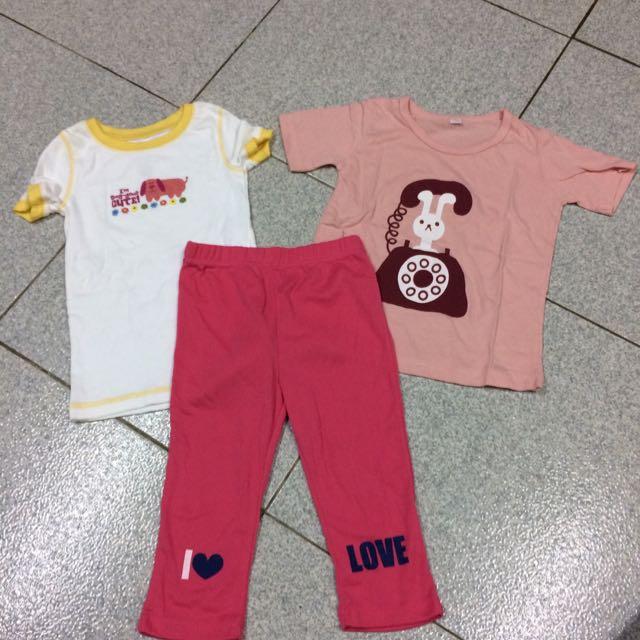 兒童服飾 短袖上衣 內搭褲