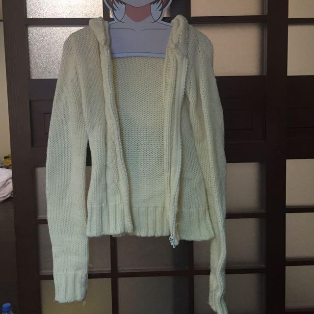 日本購入 Liz Lisa 白色毛衣連帽外套