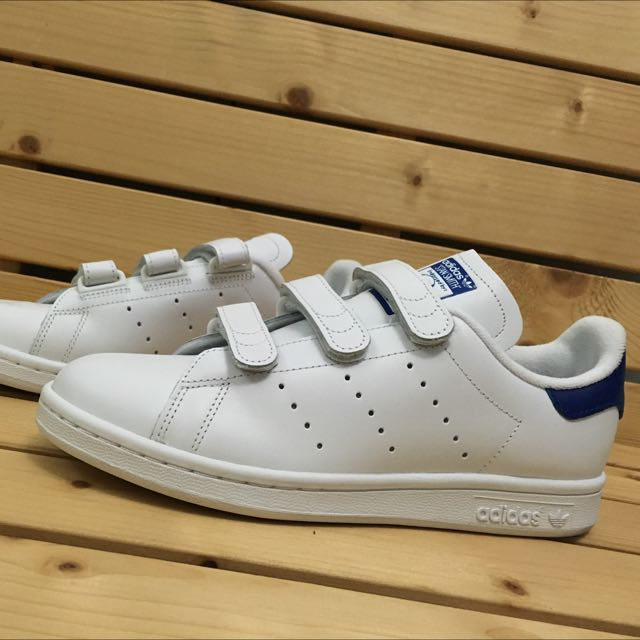 Adidas Stansmith 魔鬼氈 藍