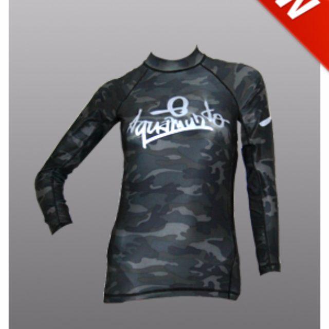 Aquamundo Rash Guards Camouflage Design (Black or Grey)