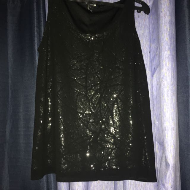 Authentic f21 Party Black Top