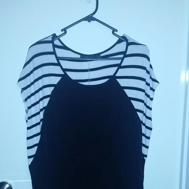 Black And White Shirt Milli Lulo Size M