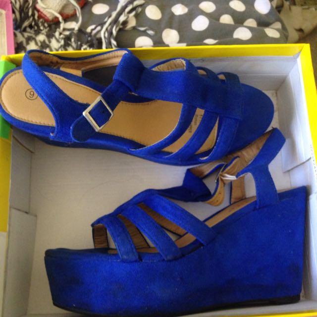 Blue Wedges /heels