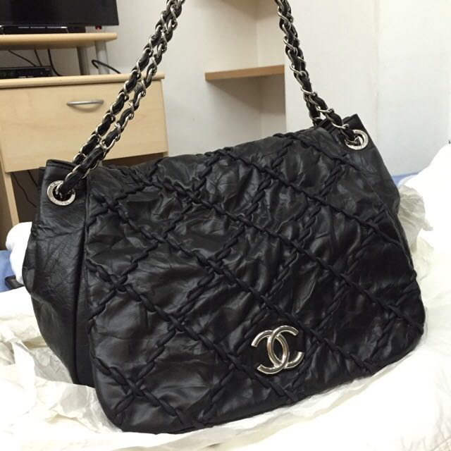 25f3d9ee10fa Chanel Stitched Flip Bag, Women's Fashion, Bags & Wallets on Carousell