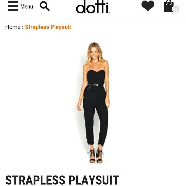 Dotti strapless playsuit/jumpsuit