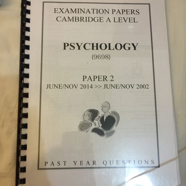 A Levels Psychology Past Year Papers
