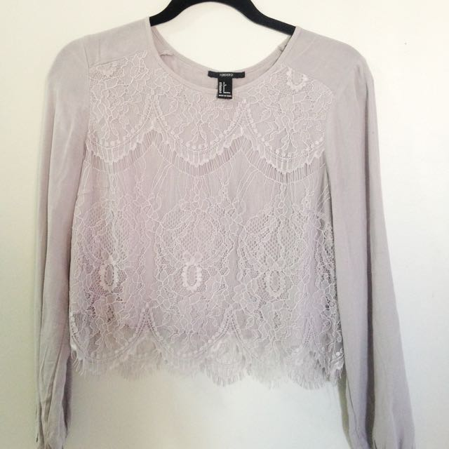 Forever 21 Lavender Lace Blouse