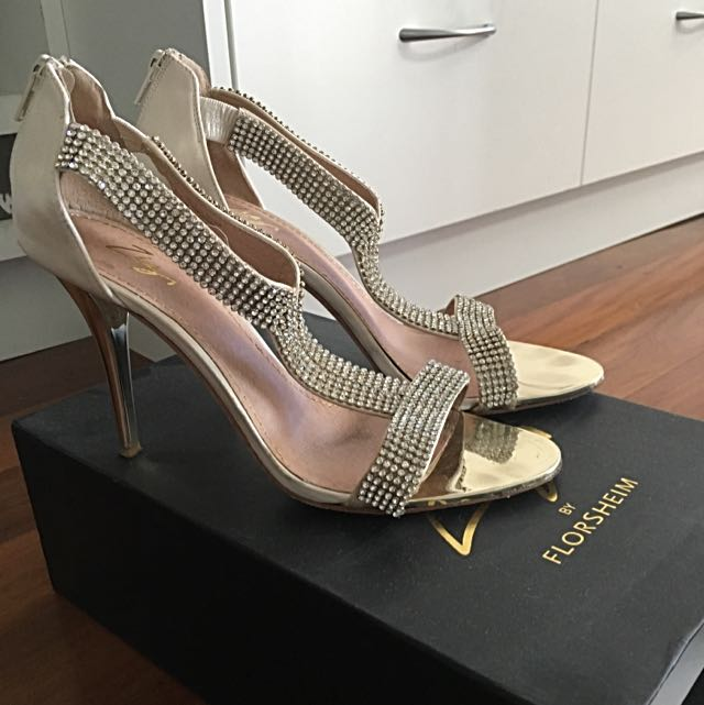 Gold Satin Stilleto