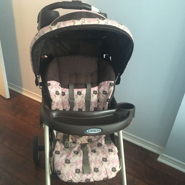 Graco Pink And Brown Stroller