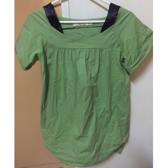 Green stretch top