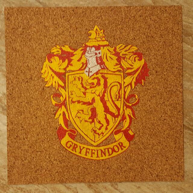 Harry Potter Painting on Corkboard