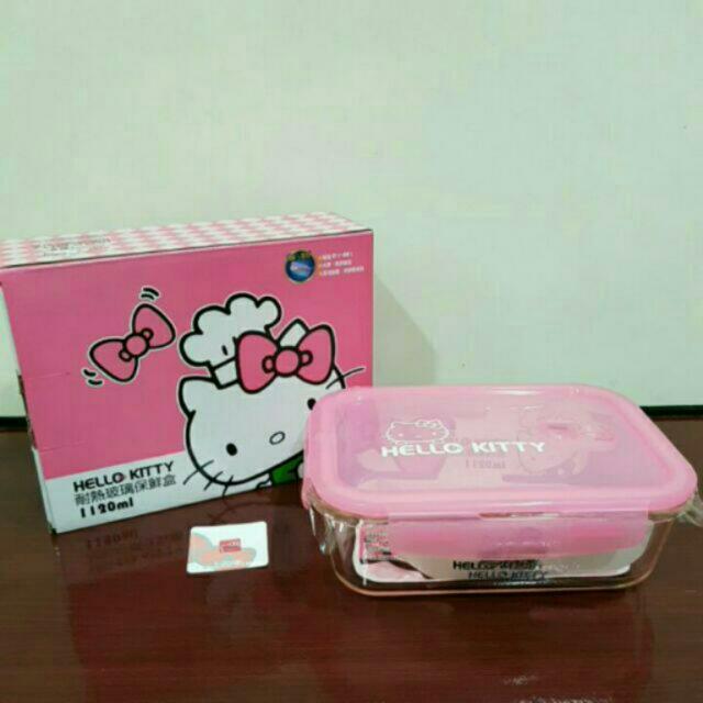 Hello Kitty 耐熱玻璃保鮮盒