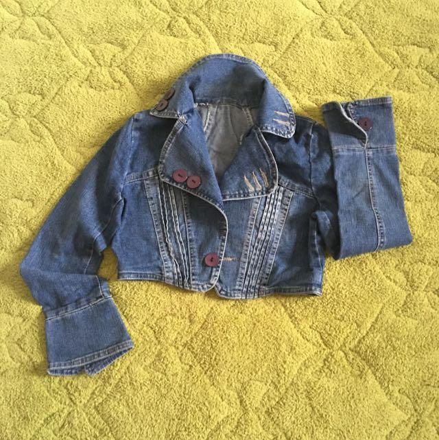 Jacket Crop Jeans